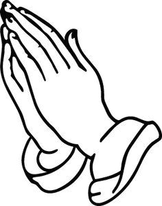 an outline of praying hands can be used in different types of arts depending with the message wanting to be conveyed