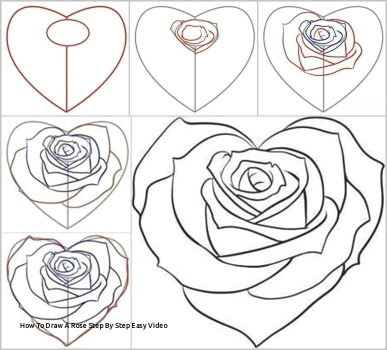how to draw a rose step by step easy video how to draw a rose from