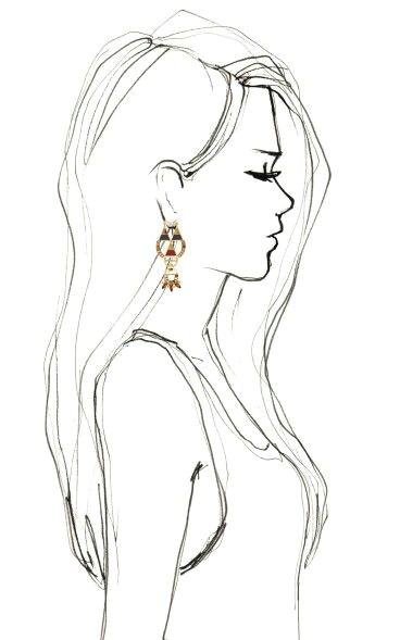 drawing side profile girl