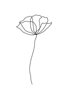 image result for single line flower 3d drawings doodle drawings tattoo drawings flower