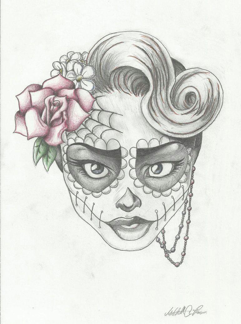 sugar skull girl 6 by https www deviantart com mcrocker90