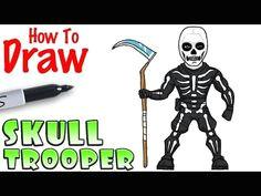 how to draw skull trooper fortnite