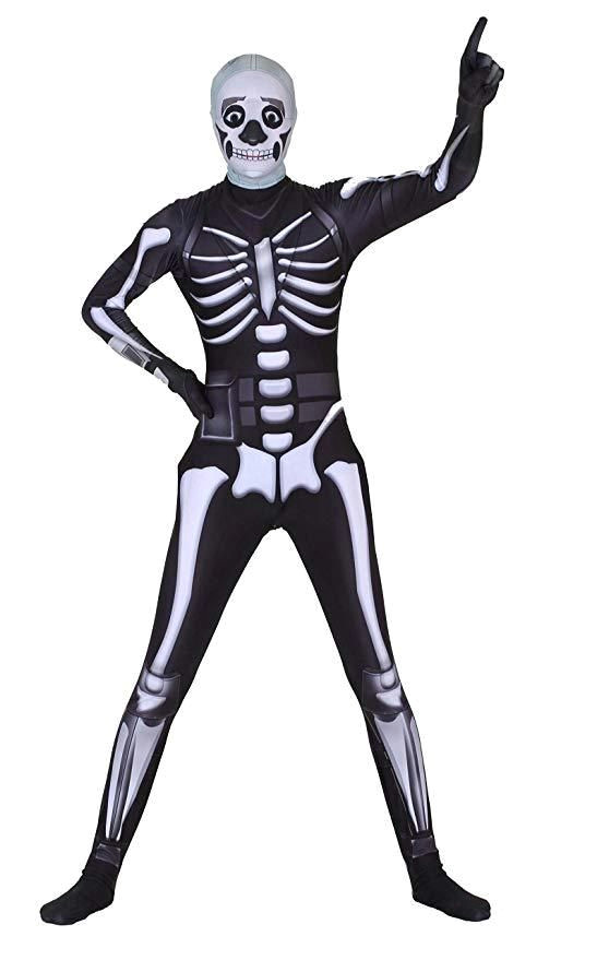 halloween costume fortnite battleroyale skull trooper skin multiple sizes