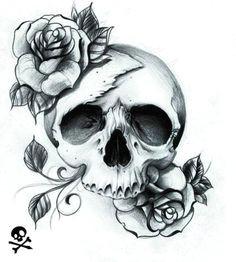skull with roses pretty skull tattoos beautiful tattoos feminine skull tattoos skull tattoo
