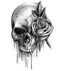 skull with rose rose tattoos body art tattoos tattoo drawings sleeve tattoos