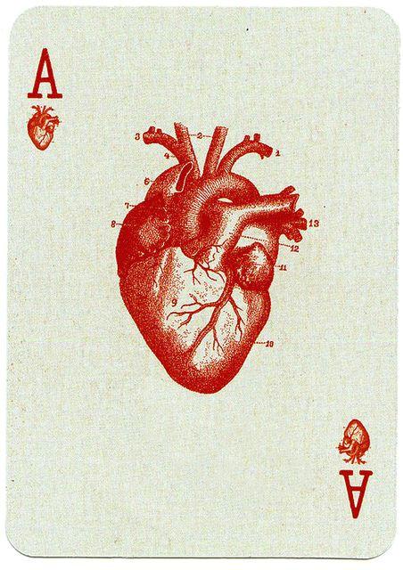 playing card design a nunoo101 heart human anatomy heart anatomy tattoo ace tattoo