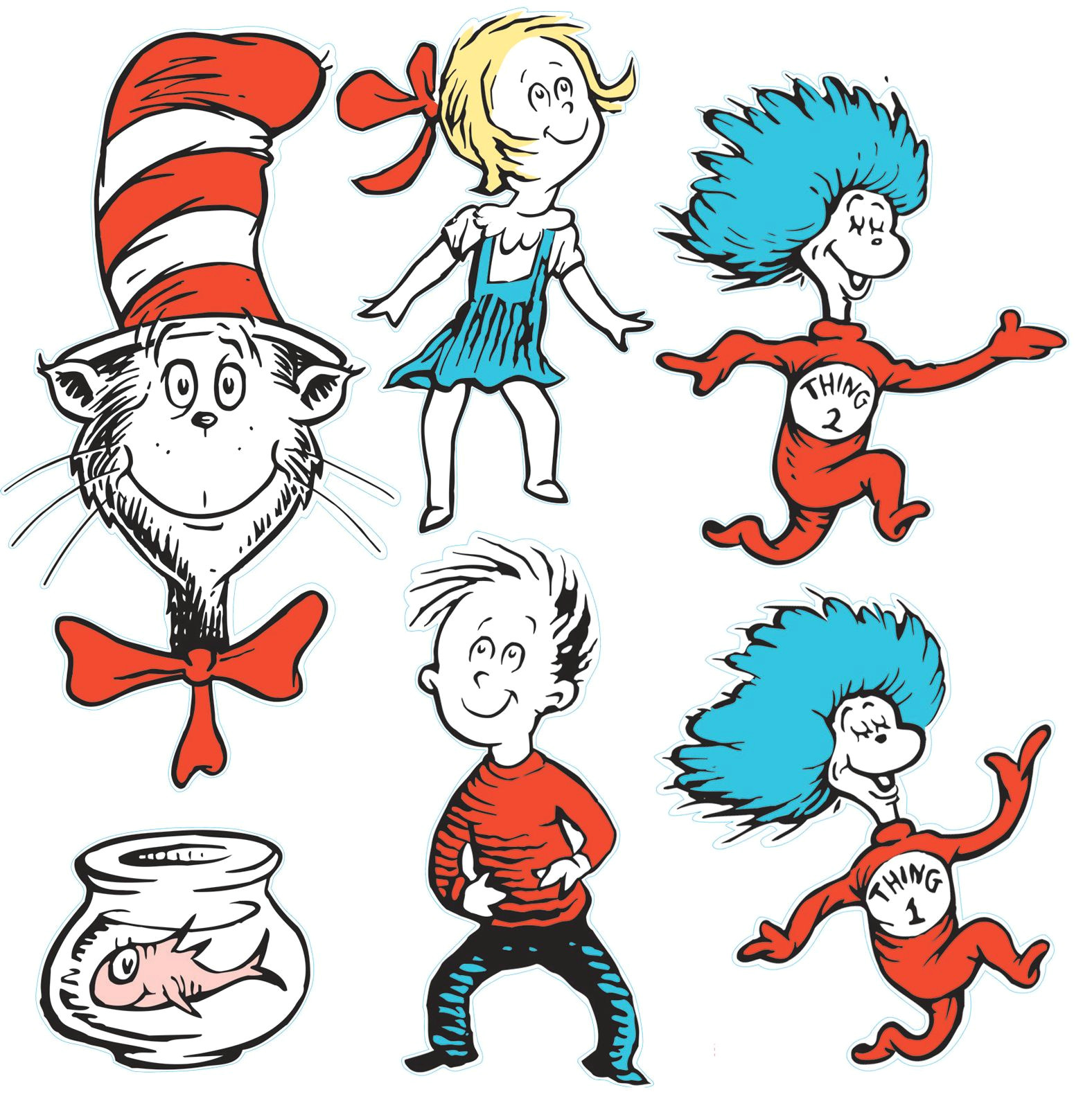 dr seuss cat in the hat giant characters decorating kit drawing inspiration