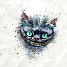 cheshire cat alice in wonderland art watercolor cat watercolor tattoo cheshire