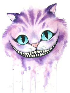 cheshire cat watercolor by denise soden print donated by the artist tap the link now to see all of our cool cat collections