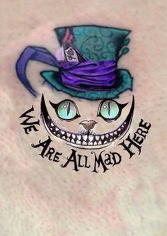 cheshire cat alice wonderland we are all mad here enzo gigante mad hatter