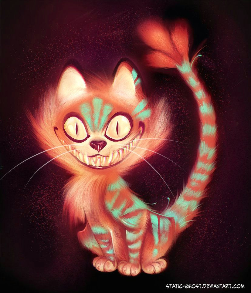 evil cheshire cat cheshire cat by static ghost