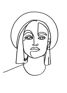 linework by julia hariri linework artwork arty artsy tattoo abstract painting illustration portrait sketching sketch black marker minimalism lips eyes