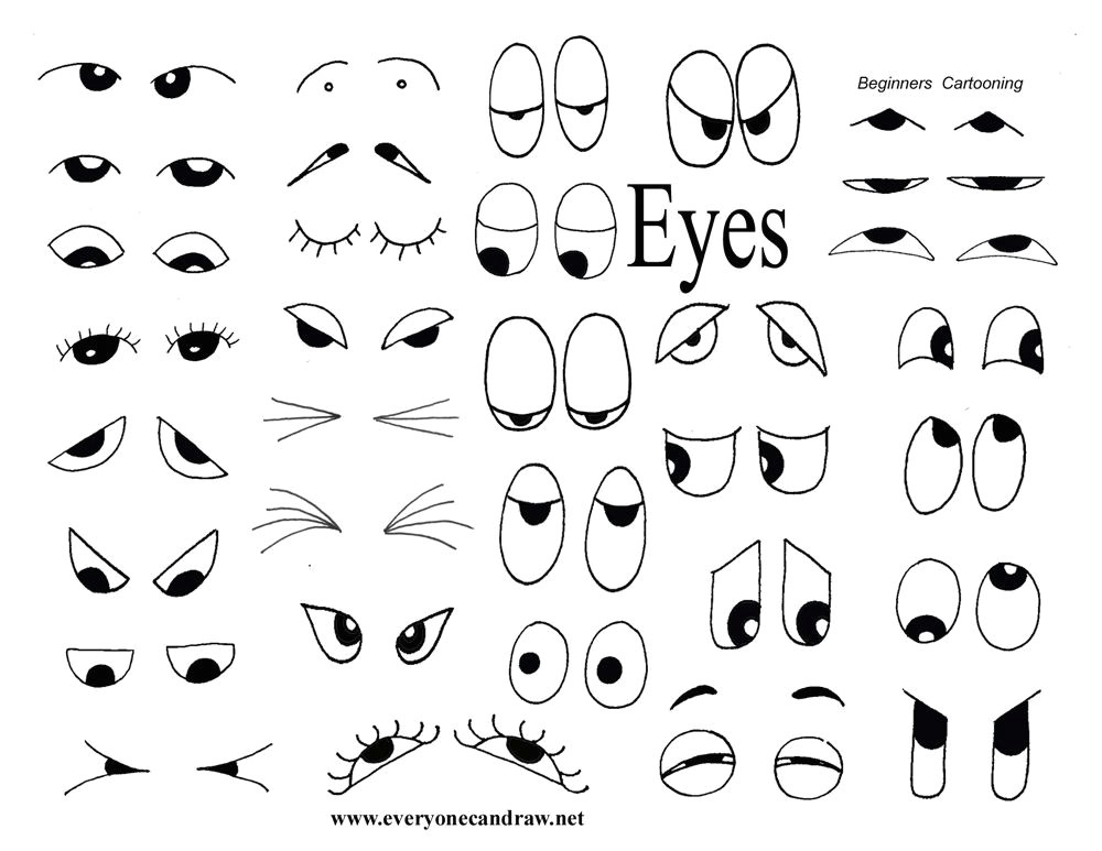 drawing helps for eyes mouths faces and more
