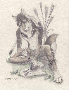 the flintknapper by russelltuller werwolf