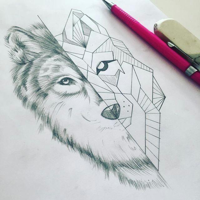 but feminine wolf instead of geometric