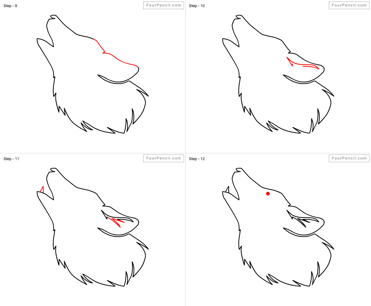how to draw wolf for kids slide 3 click to enlarge