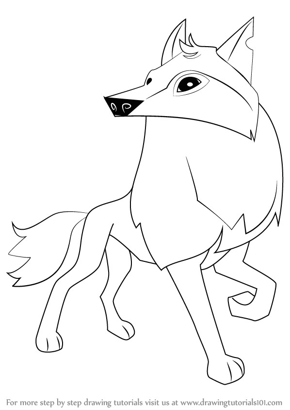 learn how to draw arctic wolf from animal jam animal jam step by