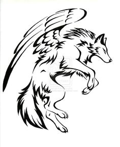 wolf with wings body art tattoos tatoos small wolf tattoo wolf tattoo back