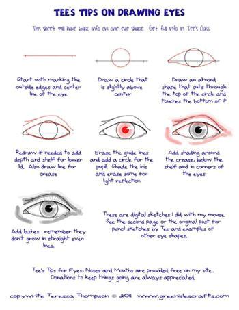 tips to draw eyes tee s tips tee thompson studio