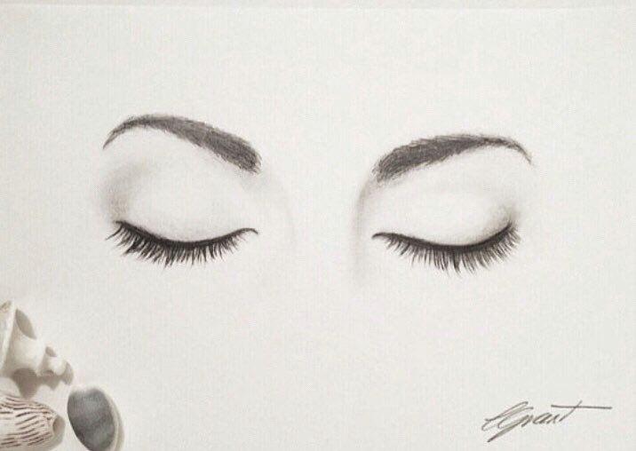 Drawing One Eye Closed Closed Eyes original Artwork Graphite Drawing Fine Art Eyes Art