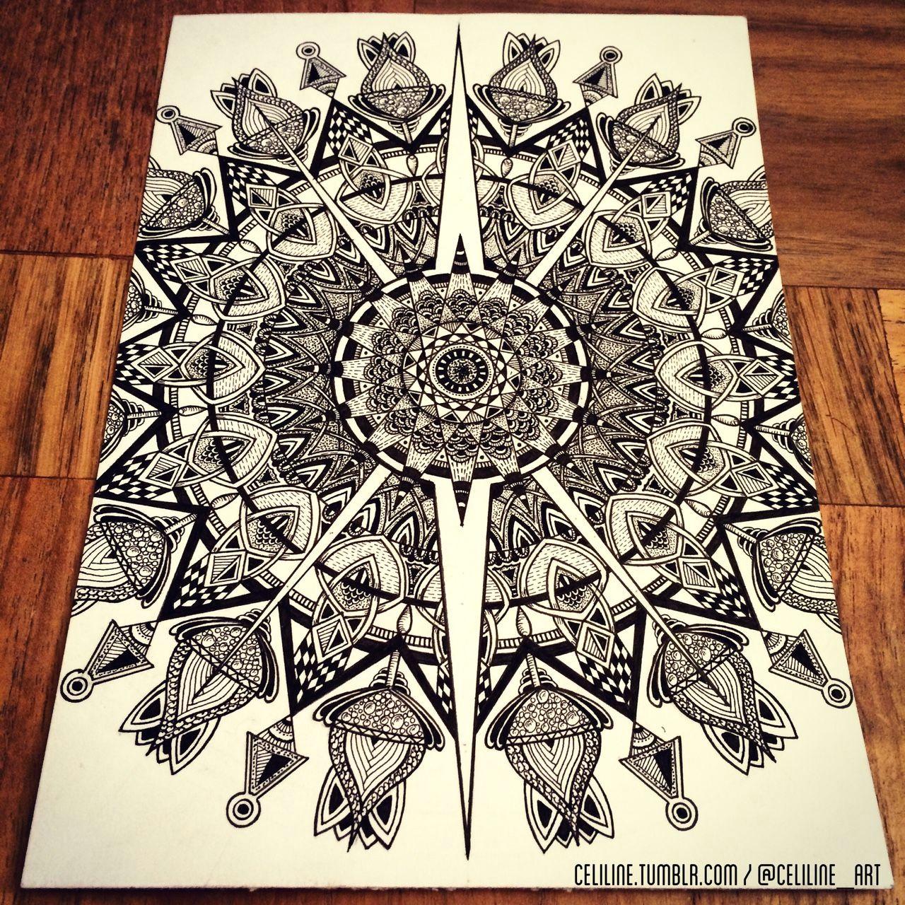 mandala zentangle doodle drawing moleskine illustration sketchbook artwork artpiece sketching sketches notebook zendoodle creative ink