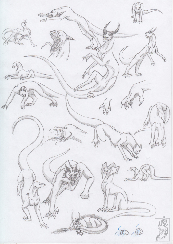 dragon poses 2 by triinuarjus dragon poses drawings art drawings drawing pics