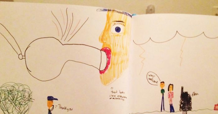 Drawing Pictures Of Non Living Things 64 Hilariously Inappropriate Kids Drawings Bored Panda
