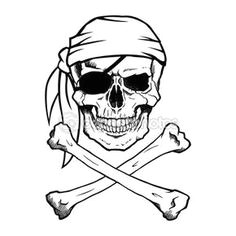 jolly roger pirate skull and crossbones stock illustration 68275549 pirate tattoo simple pirate