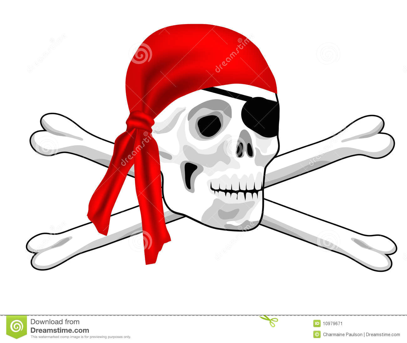 a graphic illustration of a pirate skull and bones