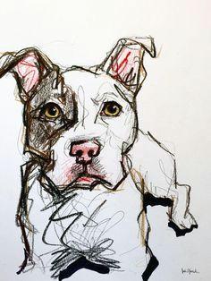 pit bull pet portrait sketch art plastique dog sketches animal sketches portrait sketches