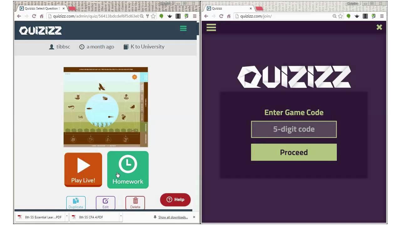 quizizz homework