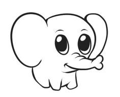 how to draw a simple elephant step by step safari animals