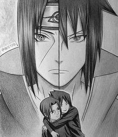 itachi and sasuke drawing amazing work