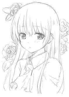 anime charakter anime madchen skizzen zeichnungen malen nachzeichnen menschen zeichnen