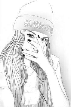 girl outlines tumblr outline outline drawings girl drawings tumblr girls crock