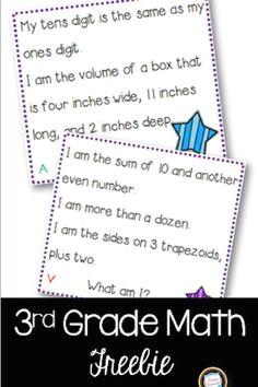 third graders love math riddles