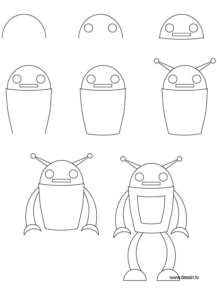 drawing robot kid easy at getdrawings com