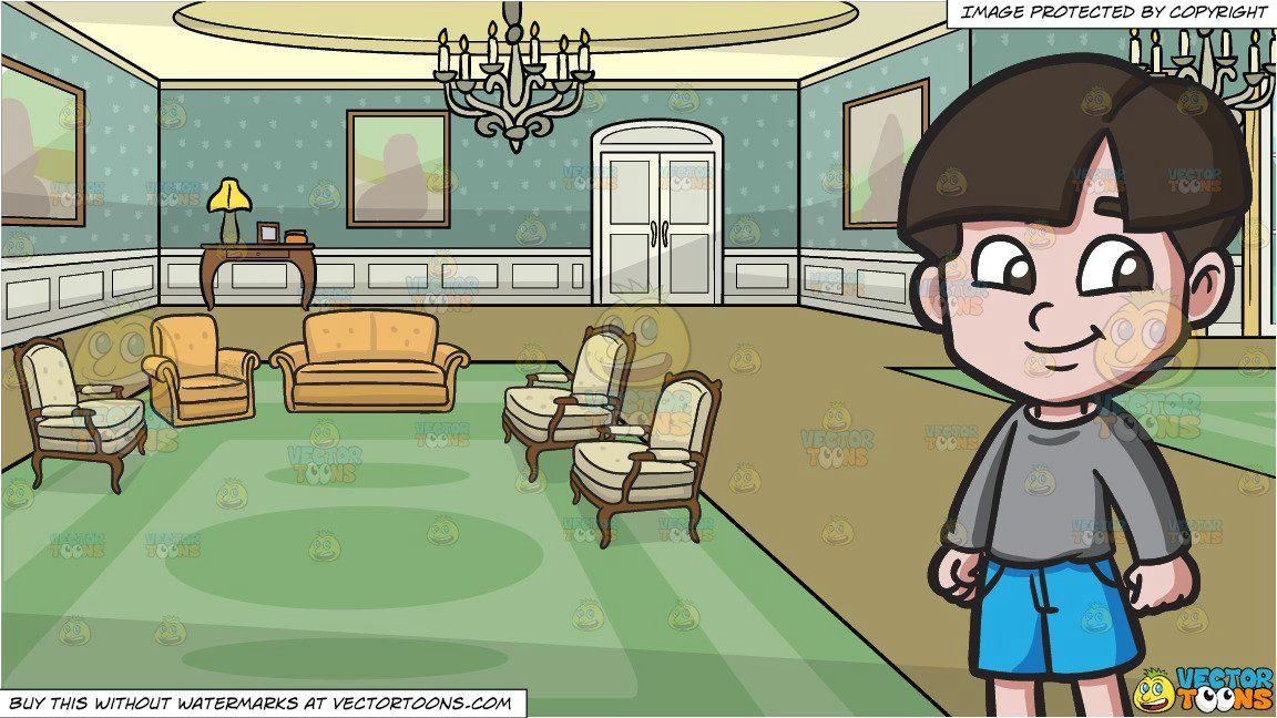 clipart cartoon a happy young boy and a castle drawing room background vendor