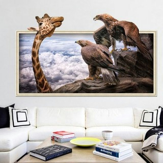 cartoon lovely 0d giraffes wall stickers bedroom living room background decor removeable stickers mm price in dubai uae compare prices