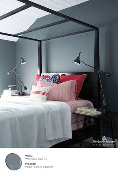 bright accessories like these red pillows help brighten up a room with neutral wolf gray 2127