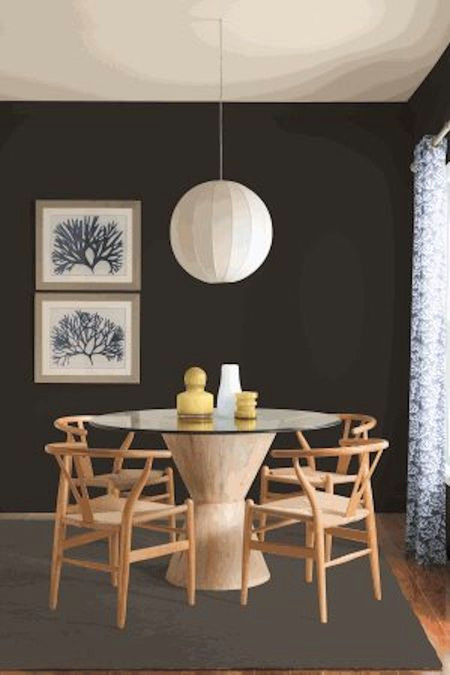 onyx painted dining room