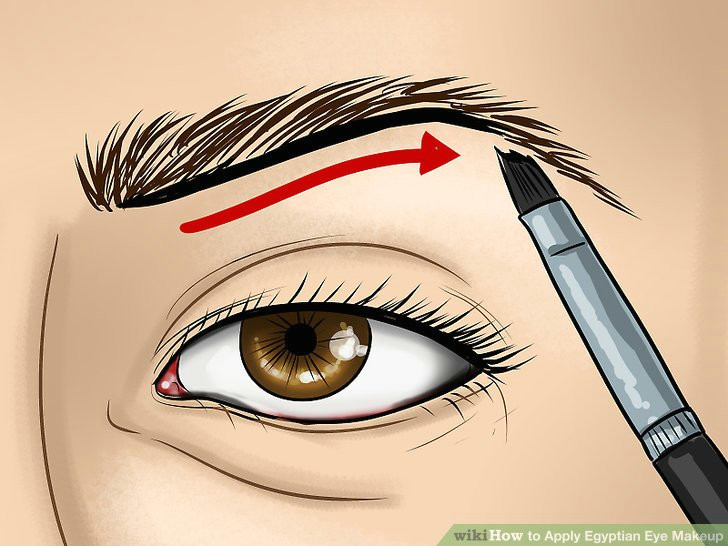 image titled apply egyptian eye makeup step 1