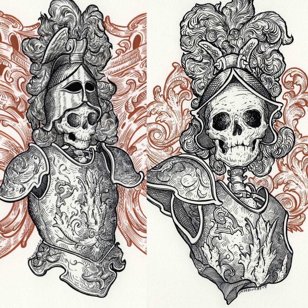 the detailed art of j m dragunas santa muerte new wallpaper macabre skeletons
