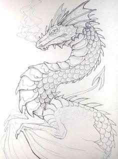 pen dragon by lucieniibi