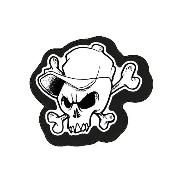 skull and crossbones badboy sticker
