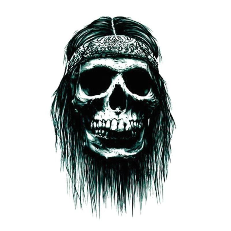 5pcs halloween 3d cartoon skull terror tattoo sticker crossbones temporary body art