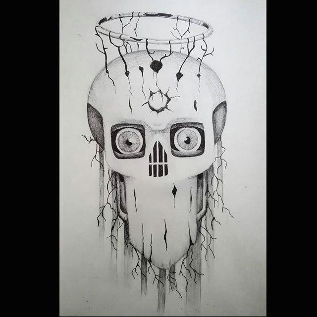 Drawing Skull Eyes Surrealist Eye Demon Drawings Artsy Pendrawing Illustration