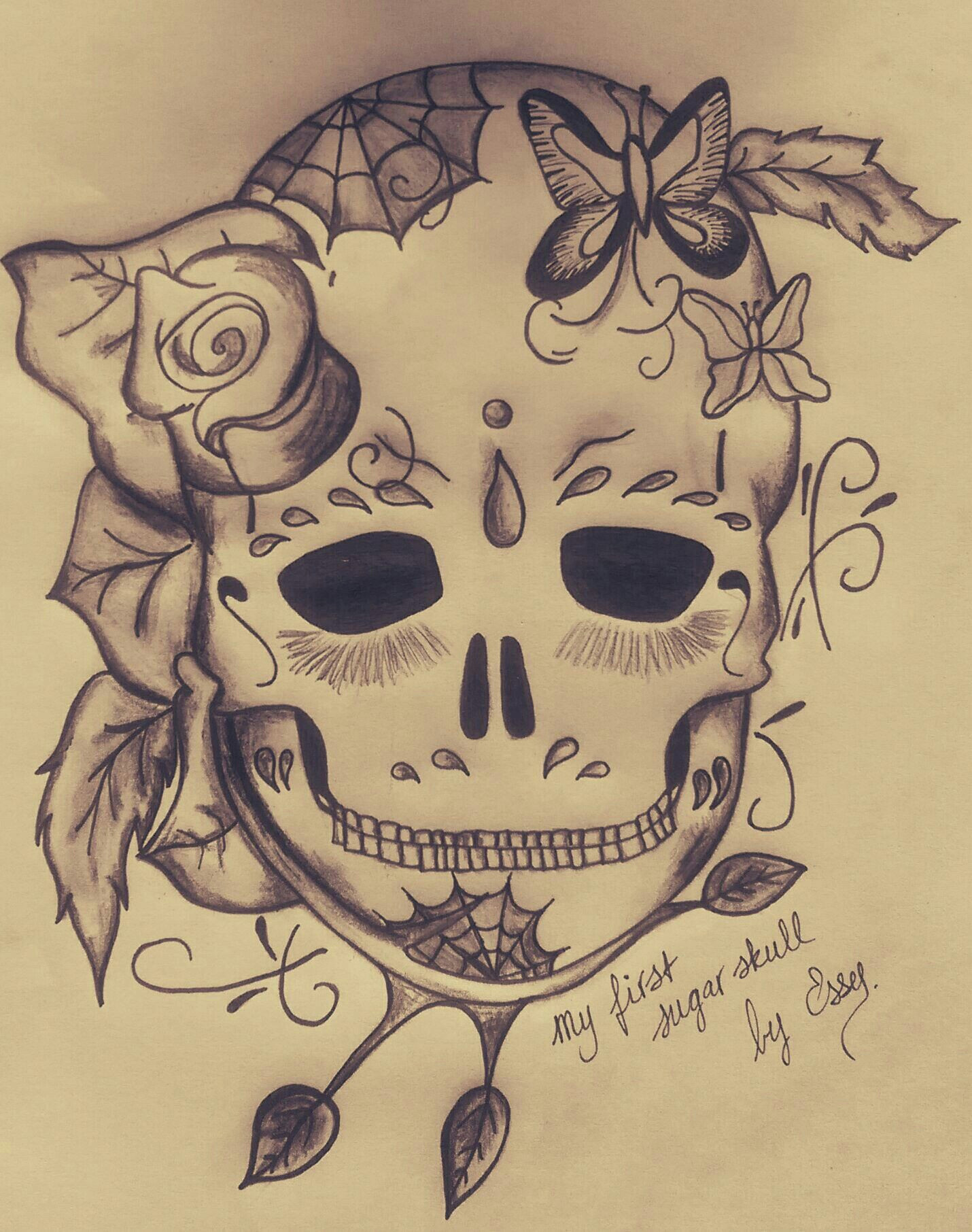 my first sugar skull by essy june 2016