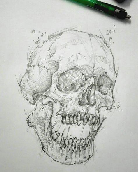 doodlin skulls on day off dirkartnyc drawing skull tattoo tatouage sketch sketching dessin fun crane crosshatching bretagne breizh saintmalo