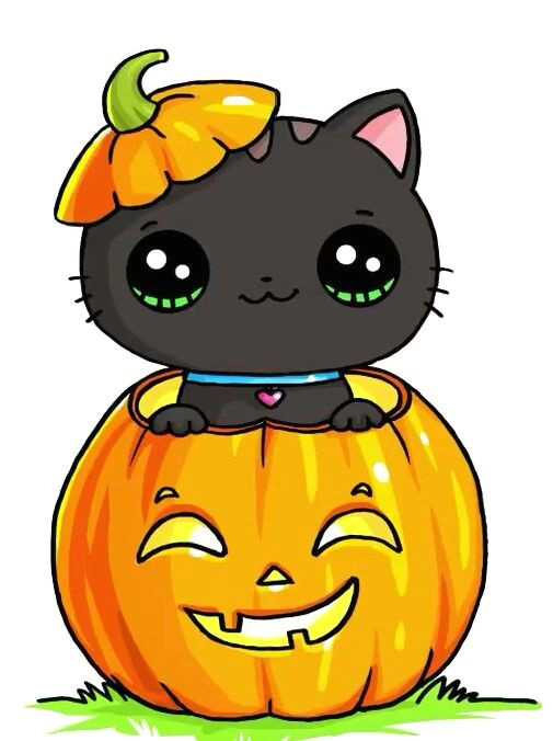 Drawing so Cute 2018 Halloween Kitty Draw so Cute In 2018 Pinterest Kawaii Cute